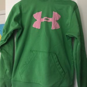 Green and Pink Under Armour Sweatshirt